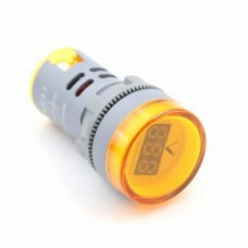 ولت متر AC تابلویی (چراغ سیگنالی) - گرد - 60 تا 500 ولت - زرد