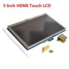 ال سی دی 5 اینچی لمسی رزبری - LCD 5 Inch HDMI Display Raspberry