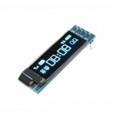 ماژول نمایشگر OLED آبی - 0.91 اینچ با ارتباط I2C
