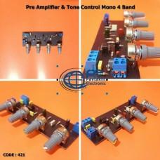پری آمپلی فایر و تون کنترل مونو 4 پارامتري -براي آمپلي فاير هاي كلاس D