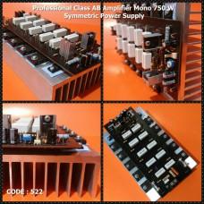 آمپلی فاير 750 وات مونو ترانزيستوري حرفه اي با هيتسينك